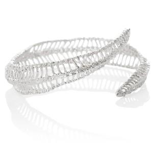 Curved Silver Bracelet