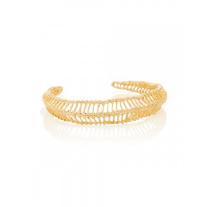 Open Weave Gold Plated Silver Bracelet