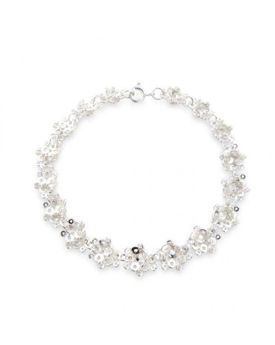 Agla Silver Amethyst Chain Bracelet - JEWELLERY
