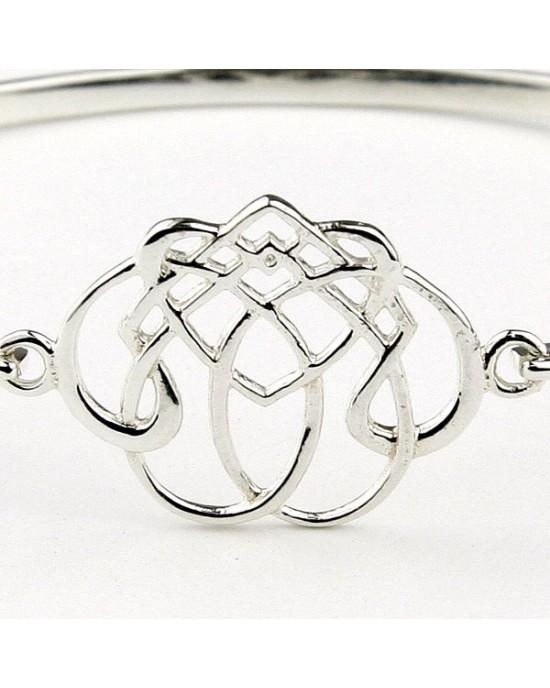 Celtic Design Sterling Silver Bracelet - BRACELETS & BANGLES