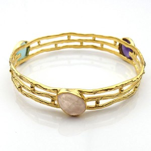 Gold Plated Semi-precious Gemstone Bracelet