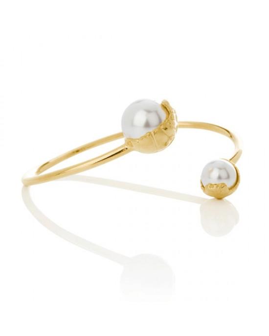 Gold Plated Silver Sand Bracelet - BRACELETS & BANGLES