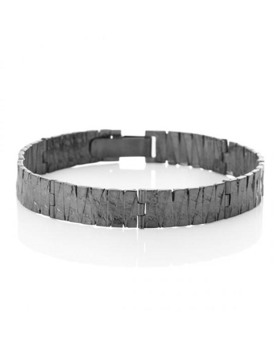 Interlinked Oxidized Silver Tuttu Bracelet - BRACELETS & BANGLES