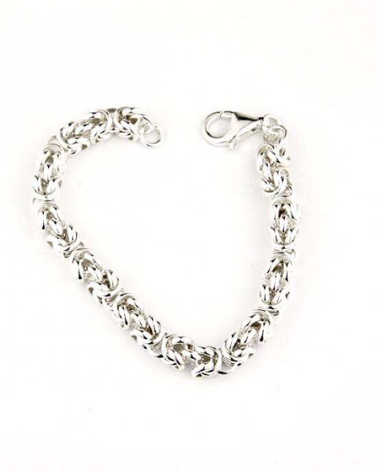 Interlinking Silver Bracelet