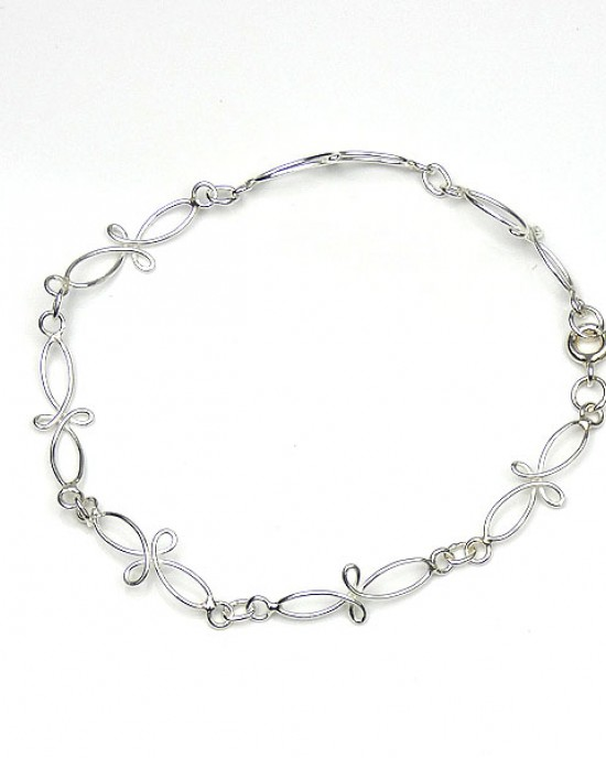 Interwined Sterling Silver Bracelet