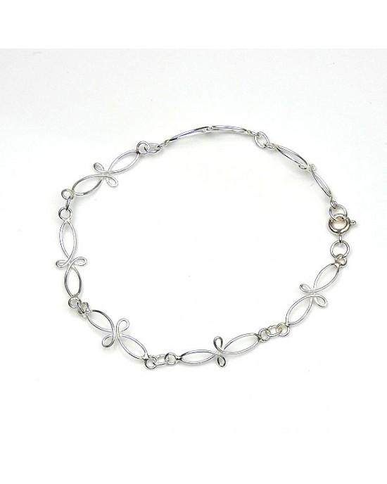 Intertwined Sterling Silver Bracelet - BRACELETS & BANGLES