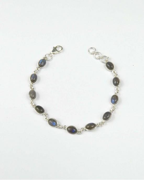 Labradorite & Silver Bracelet - BRACELETS & BANGLES
