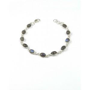 Labradorite & Silver Bracelet