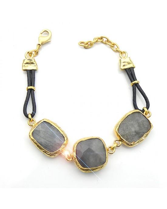 Labradorite Stone Bracelet - BRACELETS & BANGLES
