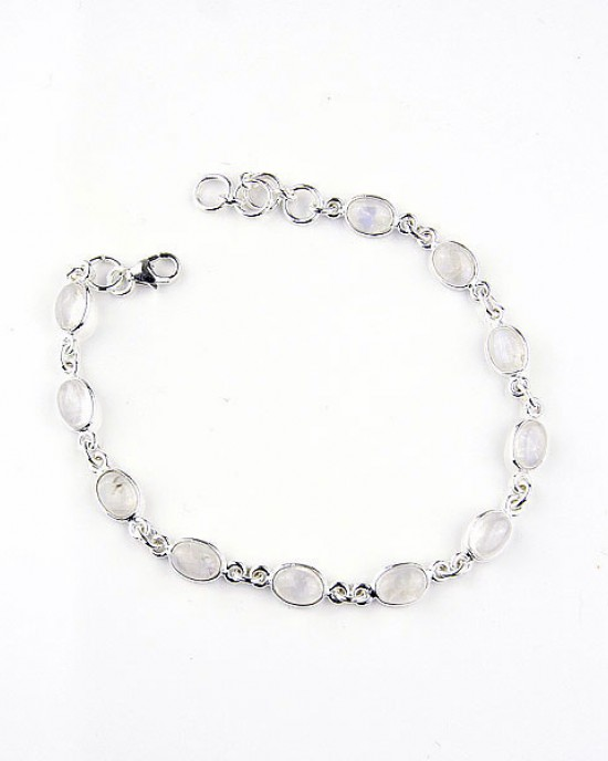 Moonstone Silver Bracelet,BRACELETS,Kiena-Jewellery