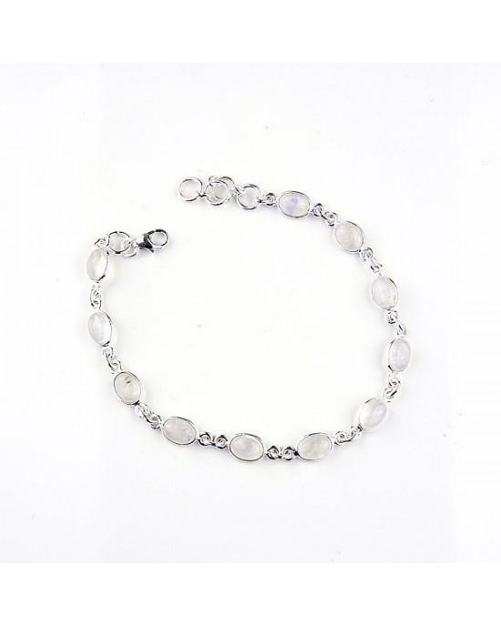 Moonstone Silver Bracelet - BRACELETS & BANGLES