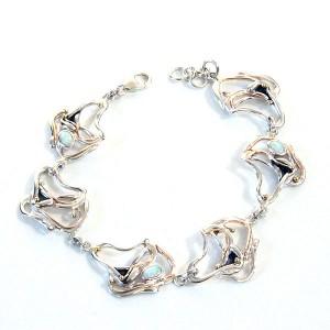 Opalites Silver Bracelet