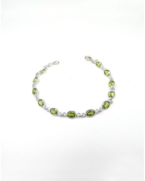 Peridot Silver Bracelet - BRACELETS & BANGLES