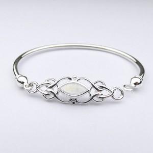 Celtic Design Moonstone Silver Bracelet