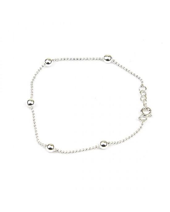 Silver Chain Ball Bracelet - BRACELETS & BANGLES