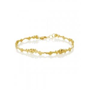 Silver Gold Plated Bracelet,