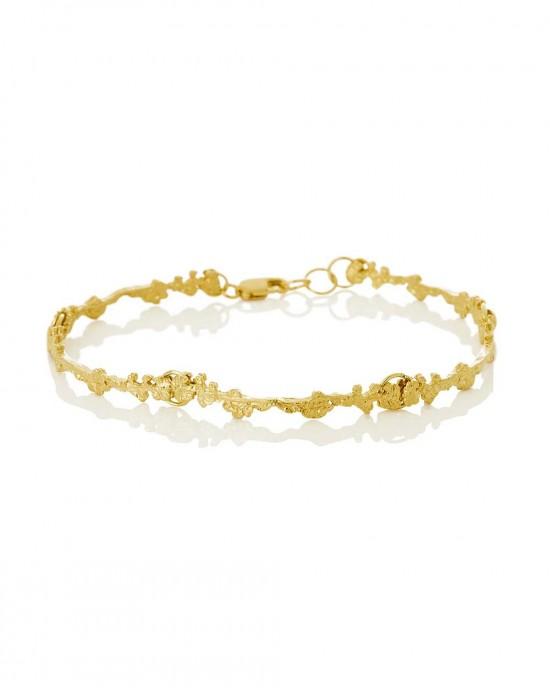 Silver Gold Plated Bracelet, ERIKA - BRACELETS & BANGLES
