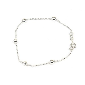 Silver Chain Ball Bracelet