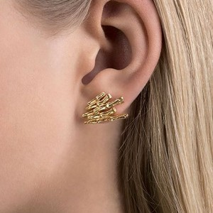 Cygnus Gold Plated Silver Stud Earrings
