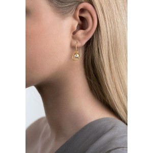 Gold Plated Silver Crystal Pearl Earrings