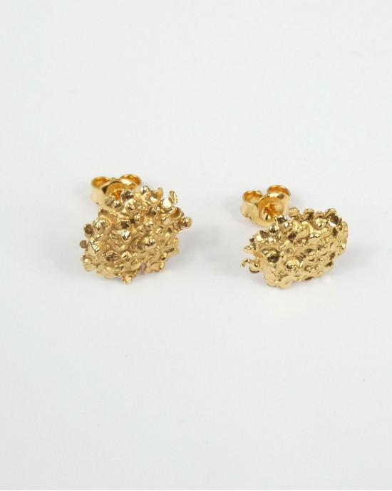 Amarantus Gold Plated Stud Earrings