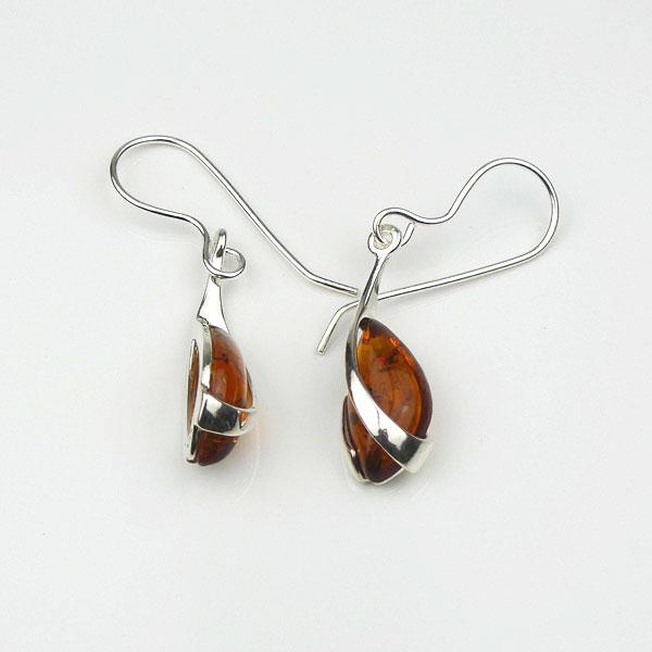 87c54951a Baltic Amber Silver Overlay Hook Earrings