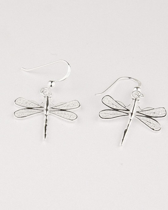 Dragonfly Sterling Silver Hook Earrings