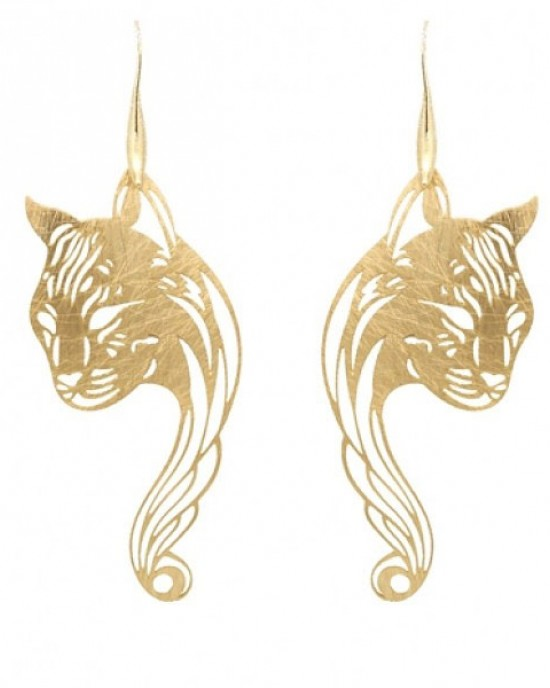 Gold Plated Panther Earrings