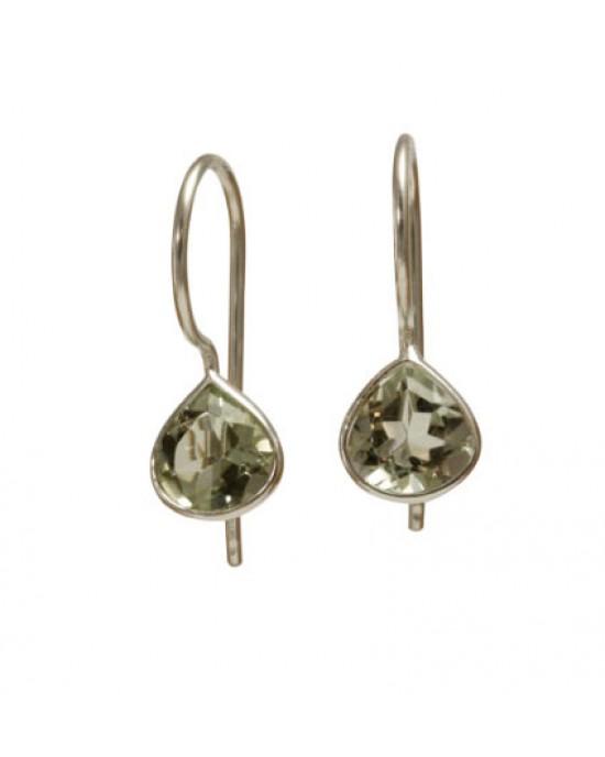 Green Amethyst Teardrop Earrings - EARRINGS