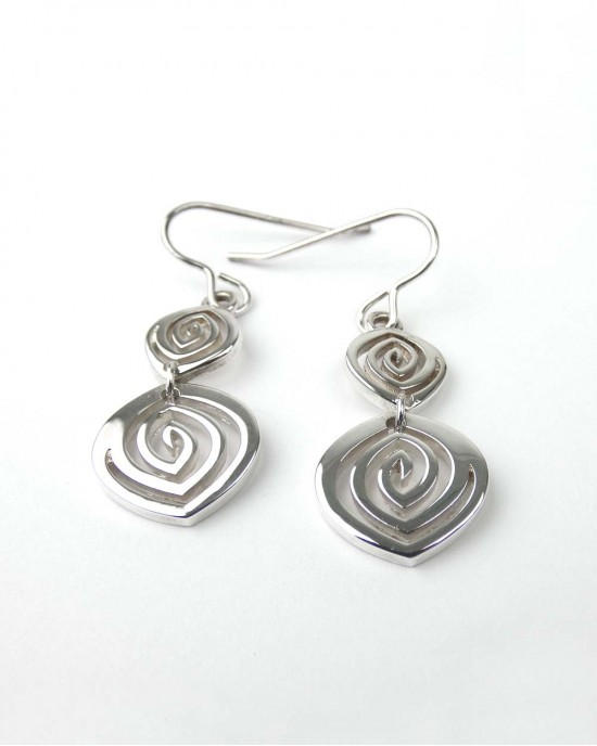 Long Drop Sterling Silver Earrings - EARRINGS