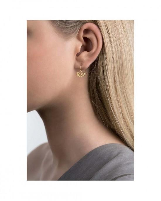 Silver Gold Plated Hook Earrings, ERIKA - EARRINGS