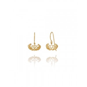 Silver Hook Earrings, Gold Plated