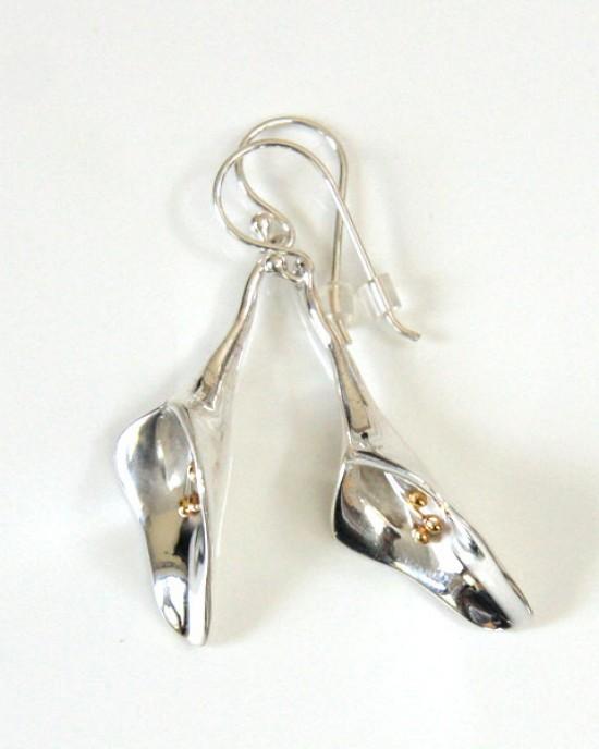 Silver Lily Earrings