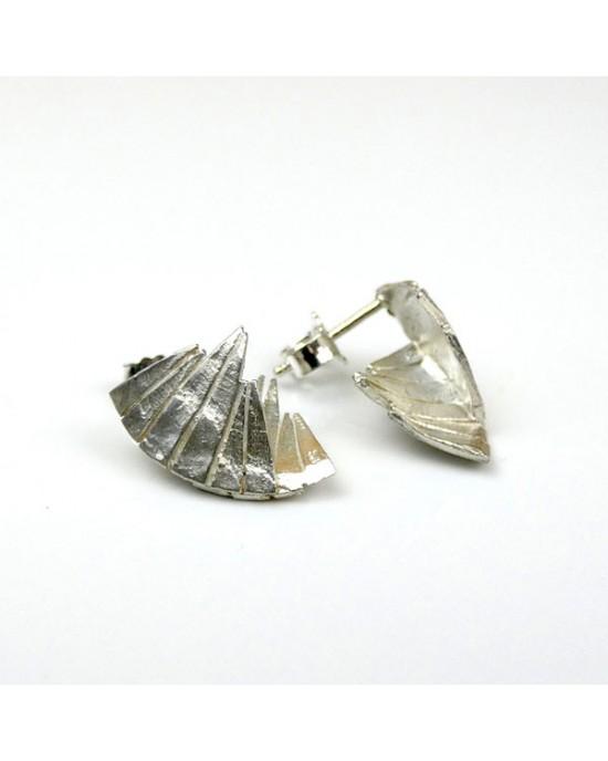 Silver Stud Shaded Tuttu Earrings - EARRINGS