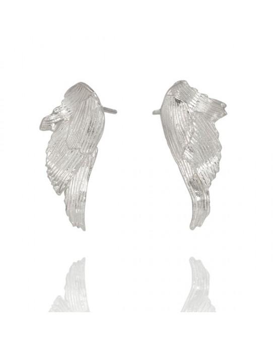 Silver Wing Stud Earring - EARRINGS