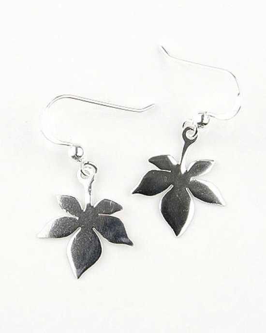 Small Sterling Silver Leaf Earrings,EARRINGS,Kiena-Jewellery