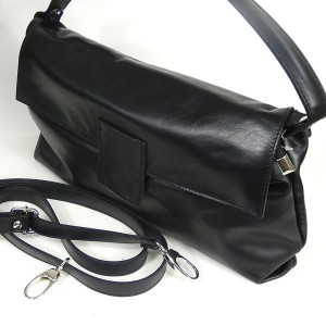 Black Italian Leather Handbag