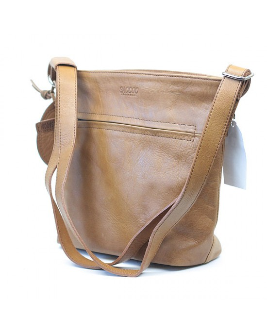 Cognac Leather Shoulder Bag