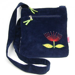 Deep Blue Corduroy Pohu Messenger Bag