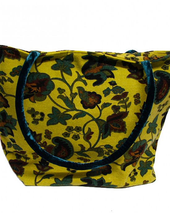 Floral Brushed Cotton Tote, Shoulder Bag