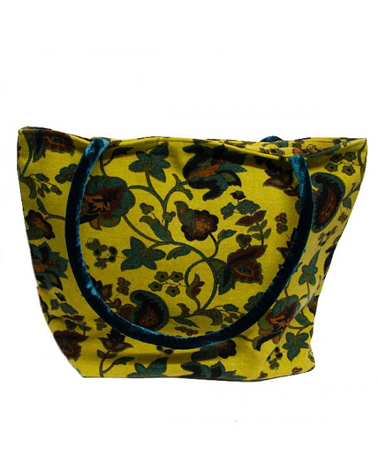Floral Brushed Cotton Tote, Shoulder Bag