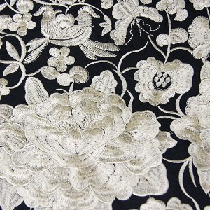 Gold Flower Embroidered Cotton Shopper