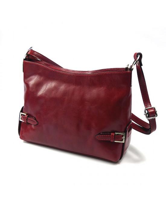 Italian Red Leather Shoulder Bag
