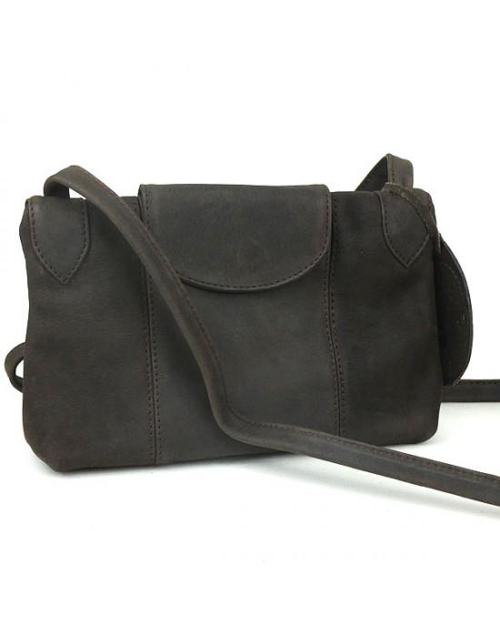 Matt Leather SACCOO Shoulder Bag Havanna
