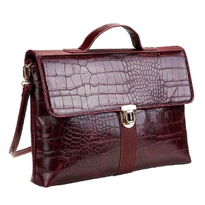 Mock Croc Satchel Handbag