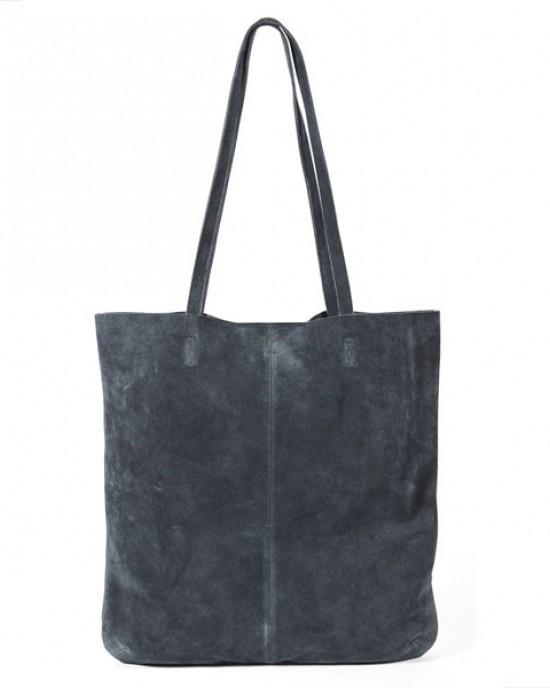Navy Suede Tote shoulder bag