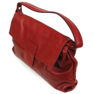 Red Italian Leather Handbag