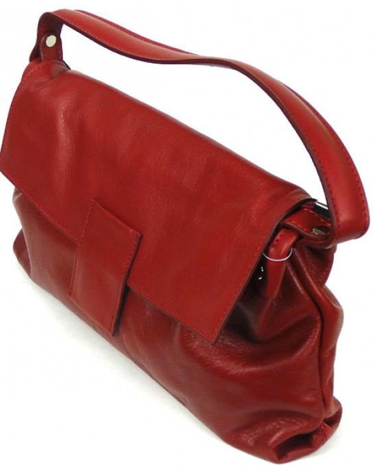 Red Italian Leather Handbag