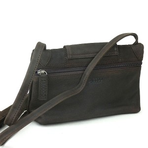Matt Leather SACCOO Shoulder Bag Havanna