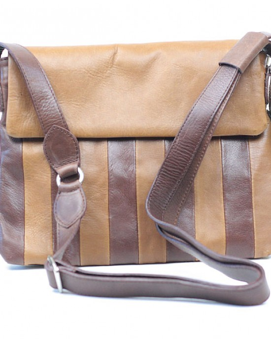Two Tone Leather Shoulder Bag